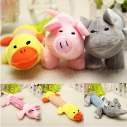 Haustier Welpen Quietsche quietschende Plüsch Schwein Elefant Ente Hund Ton Chew Spielzeug