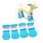 Pet Rickrack Colorful Stripe Pattern Cotton Anti-slip Socks Pet Supplies