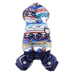 Pet Schneeflocke Luxus Baumwolle Winter Hund Katze Kleidung Overall