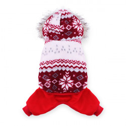 Pet Schneeflocke Muster Double Layer Wear Mantel Overall kleidet Winter