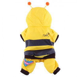 Pet Stereoscopic Bee Cotton Jumpsuit Dog Cat Coat Clothes