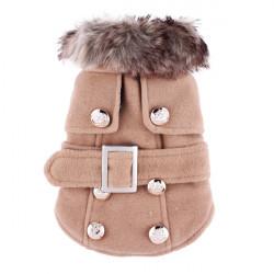 Pet Woolen Cloth Cotton Thick European USA Style Dog Cat Coat