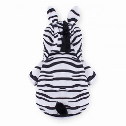 Pet Zebra Style Thick Warm Cotton Dog Cat Coat Jumpsuit Costume Winter