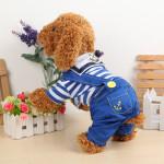 Pets Dogs Naval Uniform Navy Sailor Suit Stripe Pattern Overalls Clothes Pet Supplies