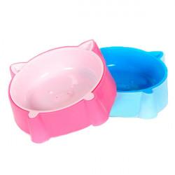 Schwein geformt rutschfester Kunststoff Haustiereinzel Bowl