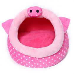 Pink Pig Shape Pet House Kennel Dog Cat Pen