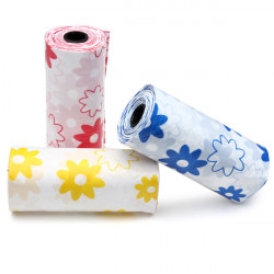 Printing Pick Up Waste Poop Bags for Pets Dogs Cats 4 Rolls