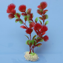Red Artificial Plastic Plants Ornament for Tank Aquarium Decorations