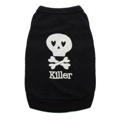 Skull Summer Cool Puppy Small Dog Cat Pet Vest T-Shirt Clothes