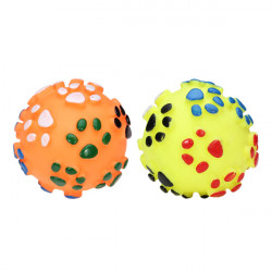 Squeaky Footprint Ball Toy for Pets Dogs Cats