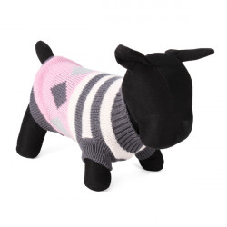 Stripe Rhombus Pet Dog Knitted Breathable Sweater Outwear Apparel