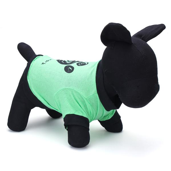 Sommar Wear Grön Fotavtryck Husdjuret Förföljer T-tröja Doggy Vest Husdjurstillbehör