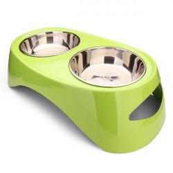 TB-05 Pet Table Double Bowl Dog Cat Big Food Feeder