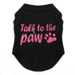 Talk to the Paw Small Paw Print Pet Dog Cat Summer Cotton Vest Pet Supplies