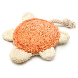 Tortoise Style Tandrensning Loofah Kæledyr Naturlige Legetøj til Hunde Katte