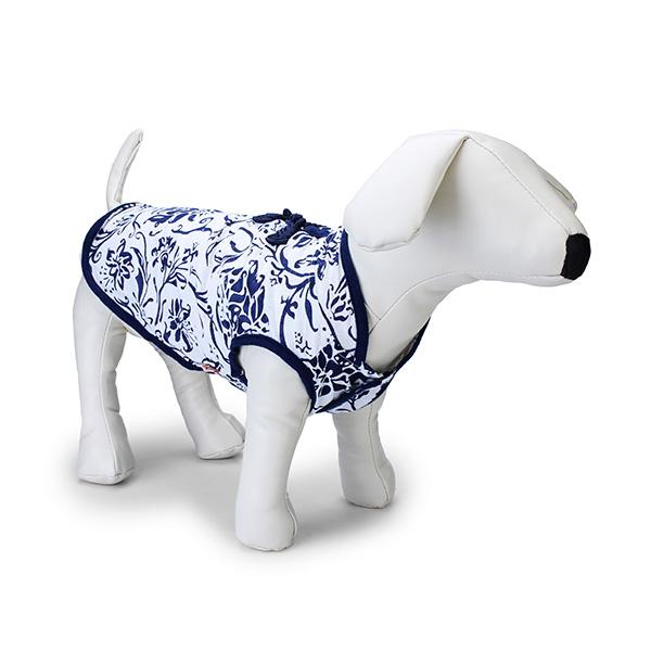Traditionell Blau Weißes Porzellan klassisch stilvoller Haustier Thin Cheongsam Haustierzubehör