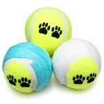 2 Farben Druck Muster Tennisball Spielzeug für Haustiere Hunde Katzen Haustierzubehör