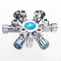 WYIN W02-06 Flera CO2 Regulator Anslutning 1 till 6 Multi-vägs