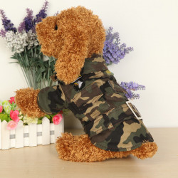 Winter Pet Dog Camouflage Coat Cotton Puppy Velvet Jumpsuit Clothes