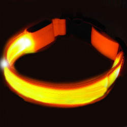 Gelbe LED Hundehalsband Nachtsicherheits Hund Flashing Collar