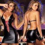 Charmig Kvinnor Läder Rygglös Vuxen Sexiga underkläder Sexiga Damunderkläder