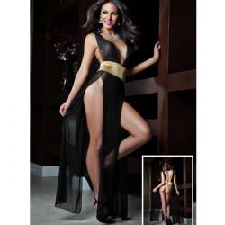 Sexy Lingerie Open Crotch Bandage Gauze Lady Costumes Dress