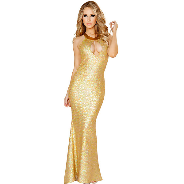 Sexy Women Lingerie Slim Mermaid Shiny Clubwear Long Dress Sexy Lingerie