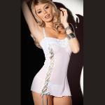 Hvid Classy Lithe Voksen Intimate Lingerie Dress Sexet Lingeri