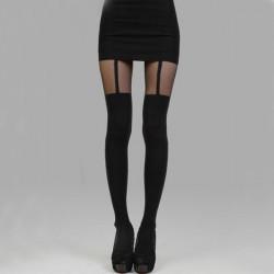 Kvinders Sexy Sheer High Tights Garter Stocking