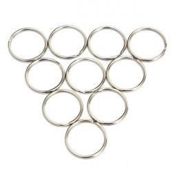 10pcs 25mm Silver Metal Key Holder Split Rings Keyring Accessories