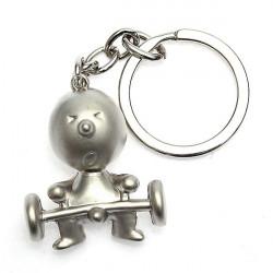 1 PC Creative Silver Mr P Boy Akimbo Key Ring Chain Fob Gift