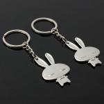 1 Pair Cute Cartoon Rabbit Pendant Key Chains Couple Lover Keyring Keychain