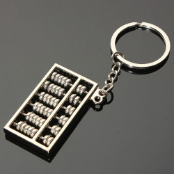3D Mini Simulation Abacus Modell Schlüsselanhänger Metall Schlüsselanhänger Geschenk