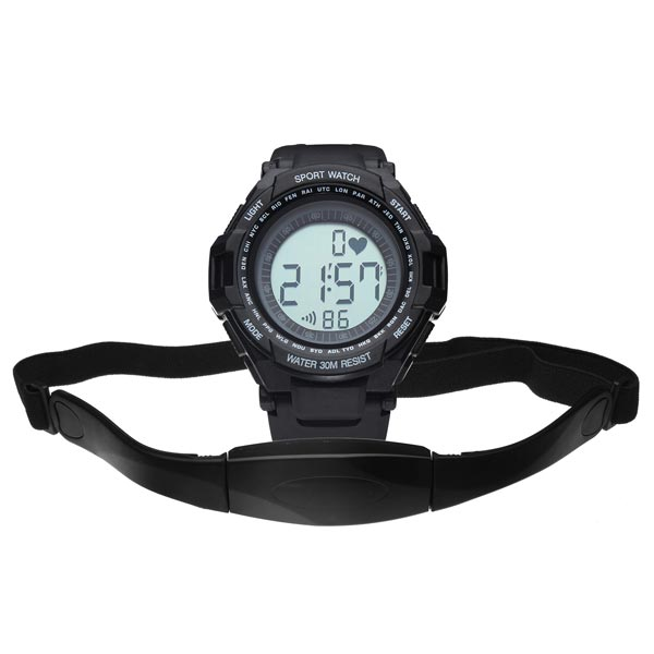 CS-009 Gym Heart Rate Sport Pedometer Hiking Men Women Wrist Watch Gym & Hiking Watch