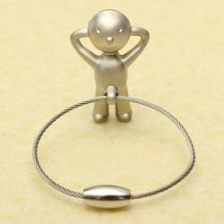 Kreative Classic Silber Herr P. Boy Schlüsselanhänger Schlüsselring Geschenk