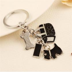 Netter Welpen Knochen Damen Taschen Anhänger Schlüsselanhänger Personalisierte Geschenke