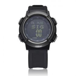 EXCELEC Altimeter Sport Hiking Barometer Black Men Women Watch