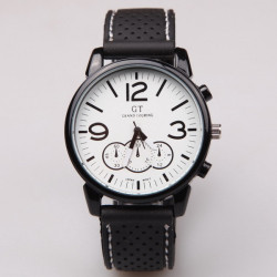 GT 06 Black Dial GRAND TOURING Silicone Quartz Sport Watch