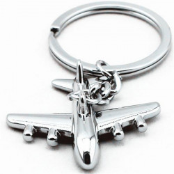 Männer Mini Flugzeug Modell Zink Legierung Aircraft Schlüsselanhänger Schmuck Geschenk