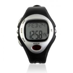 Puls Kalorie Monitor Herzfrequenz wasserdichte Sport Mann Quarz Armbanduhr