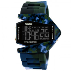 SKMEI 0817B Camo Calendar Backlight LED Digital Waterproof Sport Watch