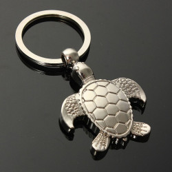 Silver 3D Sea Turtle Model Nøglering Metal Key Kæde Gift