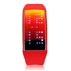 TVG LED Pedometer USB 8GB Sport Men Women Wrist Quartz Watch