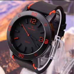 V6 Big Dial Silicone Band Super Speed Analog Quartz Sport Watch