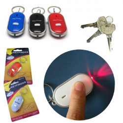 Whistle Beeping LED Flashing Key Chain Finder Locator Control Lost