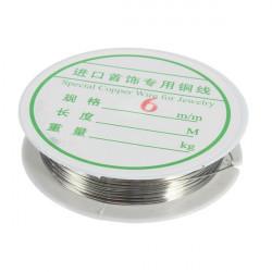 0.6mm 10M Silver Koppartråd Wire DIY Smycken