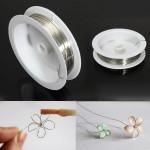 0.8mm 6M Silver Koppartråd Profilering Wire DIY Smycken Cord Smyckestillverkning & Reparation