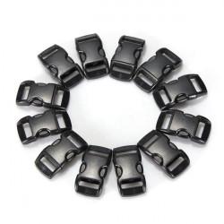 100stk Schwarz Paracord Armband Schnallen Gebogene Mitteilung Haken Schnallen