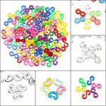100Pcs Clear Colorful C Or S Clips For DIY Loom Rubber Band Tool Jewelry Design & Repair