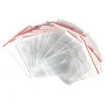 100Pcs Clear Jewelry Plastic Ziplock Reclosable Packing Bags Jewelry Supplies